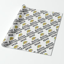 Cute Autism Awareness Brother Bear Wrapping Paper