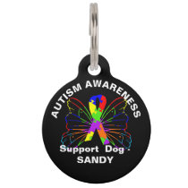 Cute Autism Awareness Dog Gift Personalized Pet ID Tag