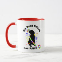 Cute Autism Awareness Dog Owners Personalized Mug