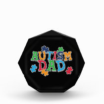 Cute Autism Dad Autistic Awareness Acrylic Award