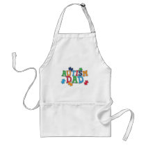 Cute Autism Dad Autistic Awareness Adult Apron