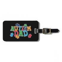 Cute Autism Dad Autistic Awareness Bag Tag