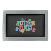 Cute Autism Dad Autistic Awareness Belt Buckle