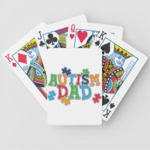 Cute Autism Dad Autistic Awareness Bicycle Playing Cards