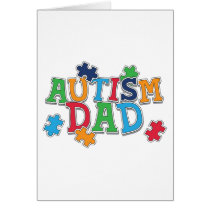 Cute Autism Dad Autistic Awareness Card