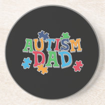 Cute Autism Dad Autistic Awareness Coaster