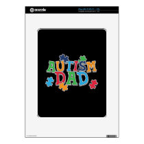 Cute Autism Dad Autistic Awareness Decal For iPad