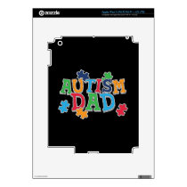 Cute Autism Dad Autistic Awareness Decal For iPad 3