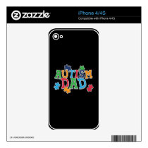 Cute Autism Dad Autistic Awareness Decal For iPhone 4