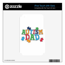 Cute Autism Dad Autistic Awareness Decal For iPod Touch 4G