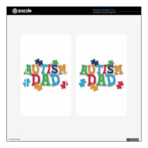 Cute Autism Dad Autistic Awareness Decal For Kindle Fire