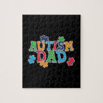 Cute Autism Dad Autistic Awareness Jigsaw Puzzle