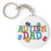 Cute Autism Dad Autistic Awareness Keychain