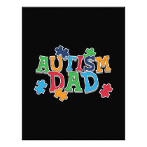 Cute Autism Dad Autistic Awareness Letterhead