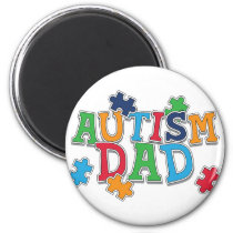 Cute Autism Dad Autistic Awareness Magnet