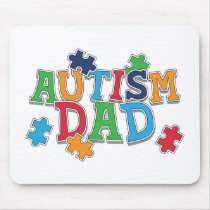 Cute Autism Dad Autistic Awareness Mouse Pad