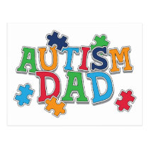 Cute Autism Dad Autistic Awareness Postcard