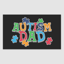 Cute Autism Dad Autistic Awareness Rectangular Sticker