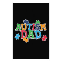 Cute Autism Dad Autistic Awareness Stationery