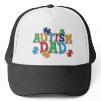 Cute Autism Dad Autistic Awareness Trucker Hat