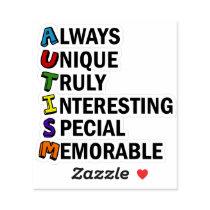 Cute Autism Pride Acrostic Sticker