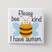 Cute Autism Pun Pinback Button