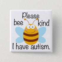 Cute Autism Pun Pinback Button