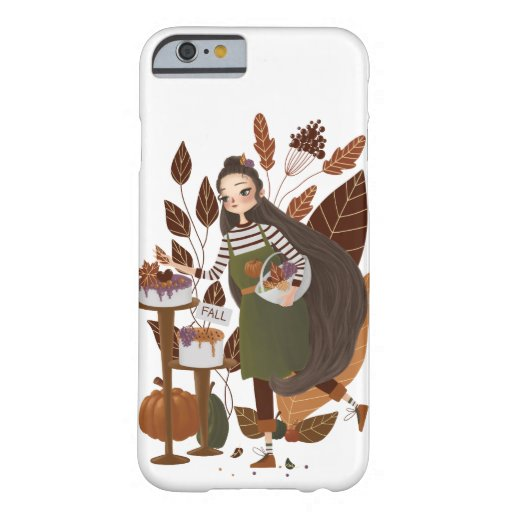 Cute Autumn Baker Barely There iPhone 6 Case