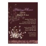 "Cute Autumn Dandelion Modern Bridal Shower Invites 5"" X 7"" Invitation Card"