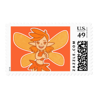 Cute Autumn Fairy Stamps