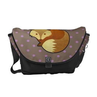 Cute Autumn Fox Courier Bag