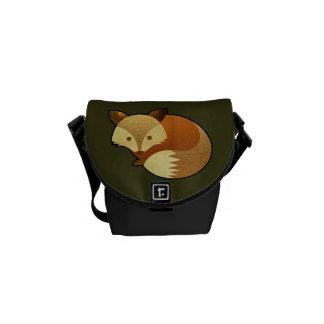 Cute Autumn Fox Messenger Bag