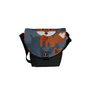 Cute Autumn Fox Pattern Messenger Bag