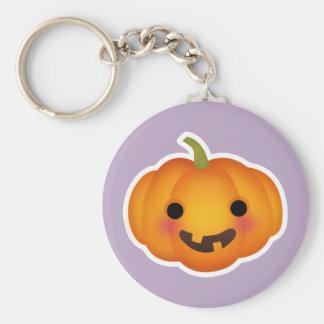Cute Autumn Halloween Pumpkin Keychain