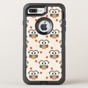 Beach Themed Cute Autumn Owl OtterBox Defender iPhone 7 Plus Case