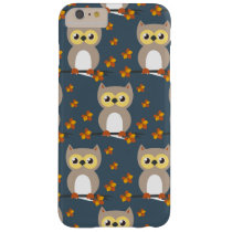 Cute Autumn Owl Pattern Barely There iPhone 6 Plus Case