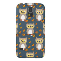 Cute Autumn Owl Pattern Case For Galaxy S5