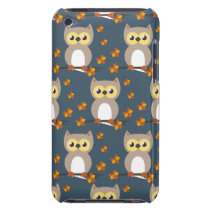 Cute Autumn Owl Pattern Case-Mate iPod Touch Case