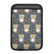 Cute Autumn Owl Pattern iPad Mini Sleeve
