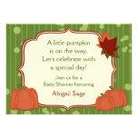 Cute Autumn Pumpkin Neutral Baby Shower Invitation