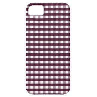 Cute Autumn Purple Gingham iPhone 5 Case