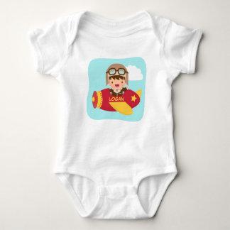 Cute Aviator Boy Airplane For Baby Boys Baby Bodysuit