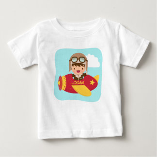Cute Aviator Boy Airplane For Baby Boys Baby T-Shirt