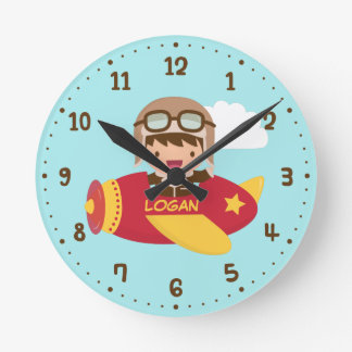 For Kids Rooms Wall Clocks Zazzle