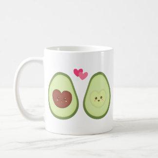 Cute Avocado couple in love, My other half Classic White Coffee Mug