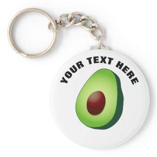 Cute avocado fruit custom round button keychains