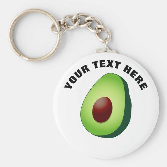 Cute avocado fruit custom round button keychains  ac4ab704f8