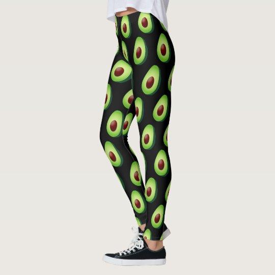 1ec500ea8d170 Cute avocado print leggings for yoga workout gym