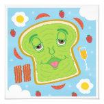 Cute Avocado Toast & Mimosa Customizable Brunch Invitation