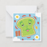 Cute Avocado Toast & Mimosa Customizable Brunch Note Card